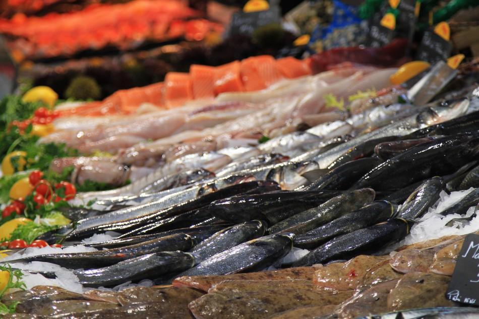 Markt Fischstand